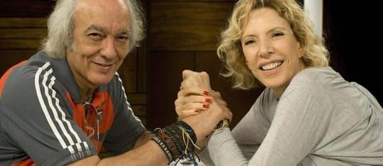 5 de Junho - 1941 - Erasmo Carlos, cantor, compositor, músico e escritor brasileiro - com Marília Gabriela.