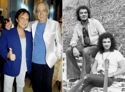 5 de Junho - 1941 - Erasmo Carlos, cantor, compositor, músico e escritor brasileiro - com Roberto Carlos, antes e depois.