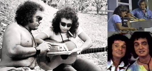 5 de Junho - 1941 - Erasmo Carlos, cantor, compositor, músico e escritor brasileiro - com Roberto Carlos, compondo e tocando.
