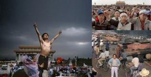 5 de Junho - 1989 – Milhares de chineses reunidos na praça Tian'anmen.