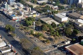 5 de Junho - Foto aérea da Praça do Relógio – Taguatinga (DF) – 59 Anos.