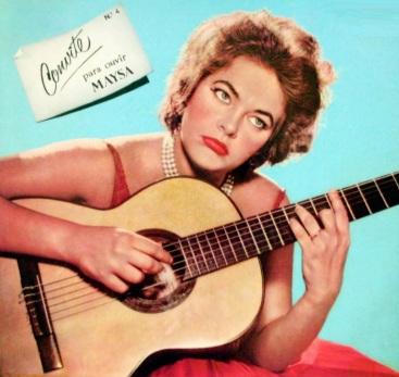 6 de Junho - 1936 – Maysa Matarazzo, cantora e compositora - Capa do álbum 'Convite para ouvir Maysa'.