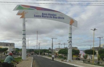 7 de Junho - Pórtico da cidade - Santa Maria da Boa Vista (PE) - 145 Anos.