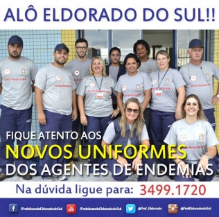 8 de Junho - Apresentação do novo uniformew dos agentes de endemias - Eldorado do Sul (RS) - 29 Anos.