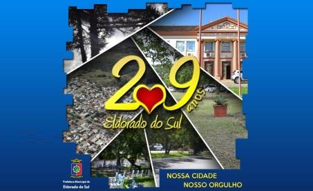 8 de Junho - Cartaz do aniversário da cidade em 2017 - Eldorado do Sul (RS) - 29 Anos.