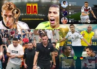 9 de Junho - 1978 — Miroslav Klose, futebolista, alemão, de origem polonesa - Comparativo, gols, copas do muundo, Ronaldo, Cruyff, Maradona e Zidane.