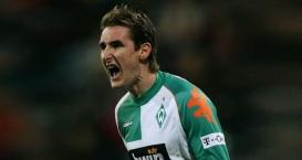 9 de Junho - 1978 — Miroslav Klose, futebolista, alemão, de origem polonesa - Jogando pelo Werder Bremen.