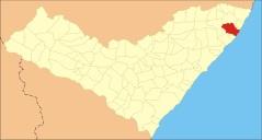 9 de Junho - Mapa de localização — Porto de Pedras (AL) 96 Anos.