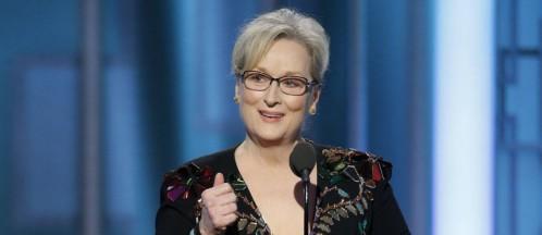 Meryl Streep faz emocionado discurso anti-Trump no Globo de Ouro