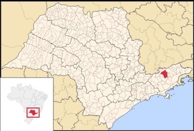 10 de Julho – Mapa de localização — Pindamonhangaba (SP) — 312 Anos em 2017.