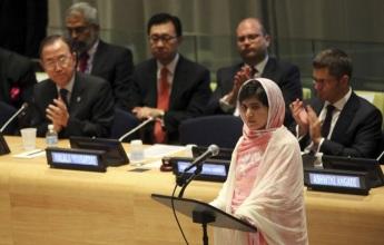 12 de Julho – Malala Yousafzai - 1997 – 20 Anos em 2017 - Acontecimentos do Dia - Foto 12 - Na ONU.