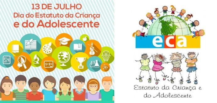 13 de Julho – 1990 – Instituído no Brasil o Estatuto da Criança e do Adolescente.