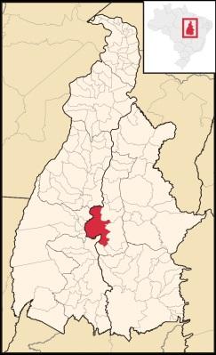 13 de Julho – Mapa de localização — Porto Nacional (TO) — 156 Anos em 2017.