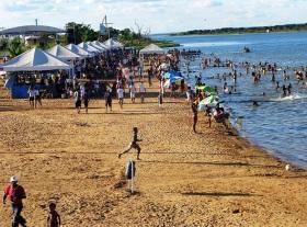 13 de Julho – Praia no rio Tocantins — Porto Nacional (TO) — 156 Anos em 2017.