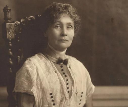 14 de Julho – 1858 — Emmeline Pankhurst, uma das fundadoras do movimento britânico do sufragismo.