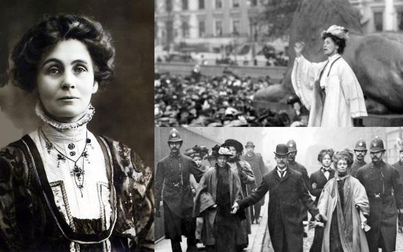 14 de Julho — Emmeline Pankhurst, uma das fundadoras do movimento britânico do sufragismo.