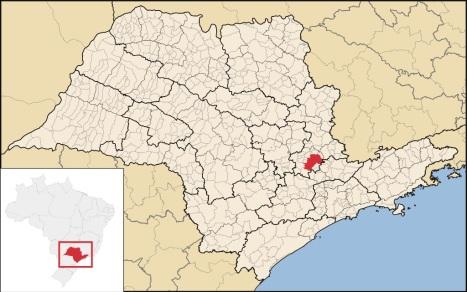 14 de Julho - Mapa de localização da cidade — Campinas (SP) — 243 Anos em 2017.