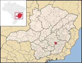 16 de Julho - Mapa de localização — Mariana (MG) — 321 Anos em 2017.