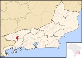 17 de Julho - Mapa de localização da cidade — Volta Redonda (RJ) — 63 Anos em 2017.