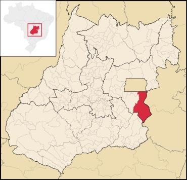 18 de Julho - Mapa de localização — Cristalina (GO) — 101 Anos em 2017.