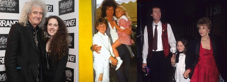 19 de Julho - Brian May - 1947 – 70 Anos em 2017 - Acontecimentos do Dia - Foto 9 - Com a família.