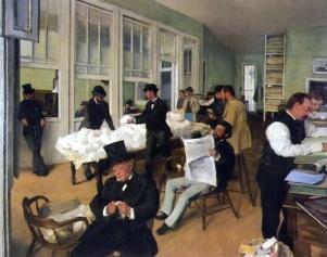 19 de Julho - Exportadores de algodão - 1873 - Degas.