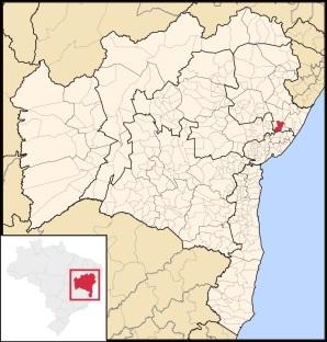 2 de Julho - Mapa de localização — Alagoinhas (BA) — 164 Anos.