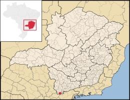 20 de Julho - Mapa de localização — Camanducaia (MG) — 149 Anos em 2017.