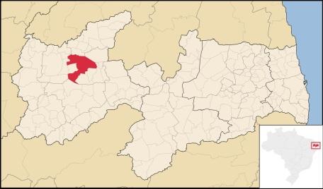 21 de Julho - Mapa de localização — Pombal (PB) — 155 Anos em 2017.