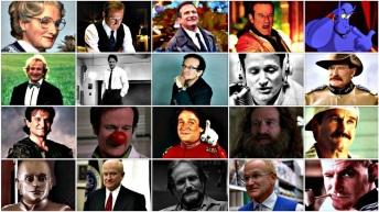 21 de Julho - Robin Williams - 1951 – 66 Anos em 2017 - Acontecimentos do Dia - Foto 17 - Mosaico de fotos com personagens feitos por Robin Williams.