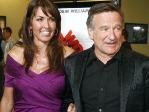 21 de Julho - Robin Williams - 1951 – 66 Anos em 2017 - Acontecimentos do Dia - Foto 6 - Com sua última esposa, Susan Schneider.