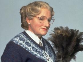 21 de Julho - Robin Williams - 1951 – 66 Anos em 2017 - Acontecimentos do Dia - Foto 9 - Em 'Uma Babá Quase Perfeita', de 1993.