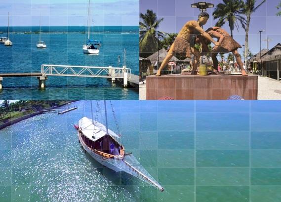23 de Julho - Fotomontagem com imagens da cidade — Santa Cruz Cabrália (BA) — 184 Anos em 2017.