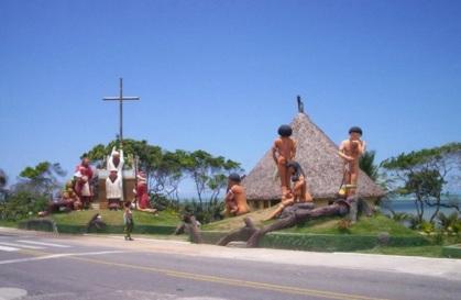 23 de Julho - Monumento da Praia Coroa Vermelha — Santa Cruz Cabrália (BA) — 184 Anos em 2017.