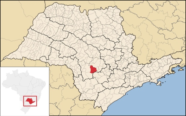 24 de Julho - Mapa de localização — Itatinga (SP) — 121 Anos em 2017.