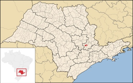 26 de Julho - Mapa de localização — Sumaré (SP) — 149 Anos em 2017.
