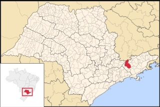 27 de Julho - Mapa de localização — São José dos Campos (SP) — 250 Anos em 2017.