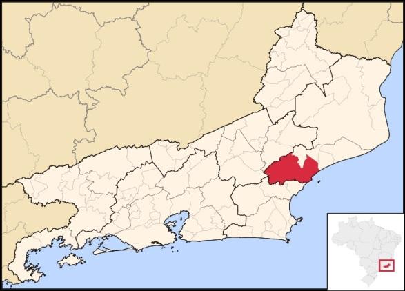 29 de Julho - Mapa de localização — Macaé (RJ) — 204 Anos em 2017.