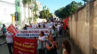 3 de Julho – Manifestantes durante ato pelo Centro da cidade — Montes Claros (MG) — 160 Anos.
