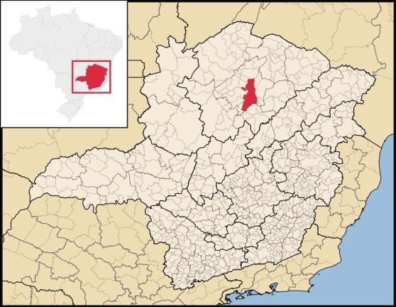 3 de Julho – Mapa de localização — Montes Claros (MG) — 160 Anos.