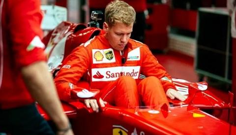 3 de Julho – Sebastian Vettel, piloto, alemão de Fórmula 1, na Ferrari.