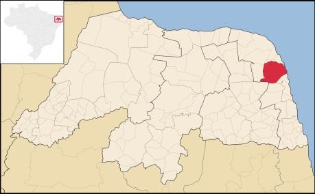 30 de Julho - Mapa de localização — Ceará-Mirim (RN) — 159 Anos em 2017.