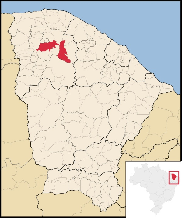5 de Julho – Mapa de localização — Sobral (CE) — 244 Anos em 2017.