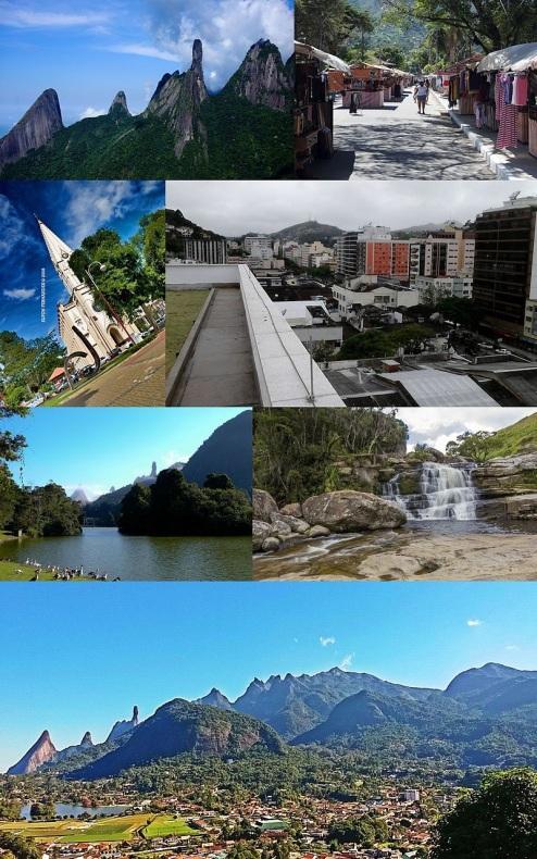 6 de Julho – Fotomontagem com pontos turísticos da cidade — Teresópolis (RJ) — 126 Anos em 2017.