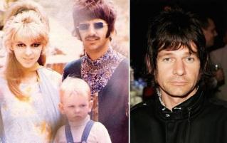 7 de Julho – Ringo Starr e sua esposa Maureen Cox, com o filho Zack Zak Starkey ainda pequeno, e adulto, em destaque (dir.).
