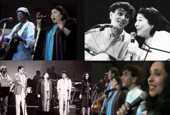 9 de Julho – Mercedes Sosa com os brasileiros Milton Nascimento, Caetano Veloso, Gal Costa e Chico Buarque.