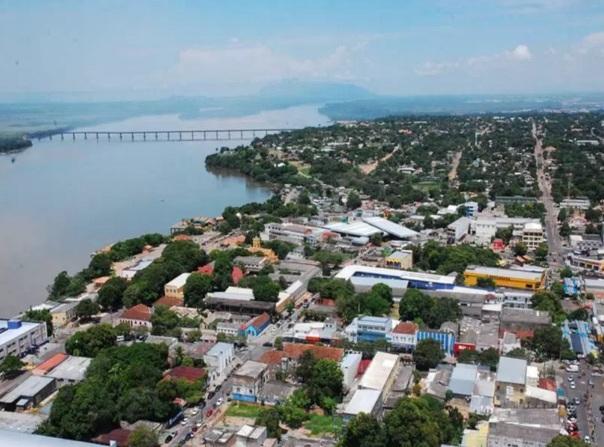 9 de Julho – Tomada aérea do rio e da ponte — Boa Vista (RR) — 127 Anos em 2017.