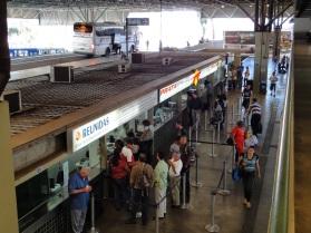 1 de Agosto – Terminal Rodoviário - Compra de passagens — Bauru (SP) — 121 Anos em 2017.