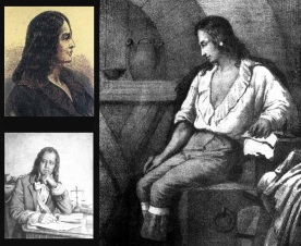 11 de Agosto – 1744 — Tomás Antônio Gonzaga, poeta e inconfidente mineiro (m. 1810). À direita, Gonzaga, em tela de João Maximiliano Mafra (1843).