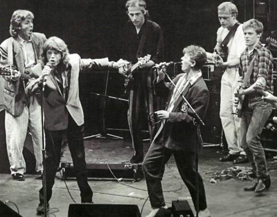 12 de Agosto – Mark Knopfler - 1949 – 68 Anos em 2017 - Acontecimentos do Dia - Foto 15 - Paul McCartney, Mick Jagger, Mark Knopfler, David Bowie, Mark King and Bryan Adams.